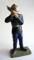 FIGURINE STARLUX SAPEUR POMPIER SERGENT AVEC TELEPHONE SP2 1978 Nouveau Casque POMPIERS - Starlux
