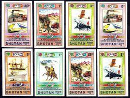 BHUTAN, 1974, UPU Centenary 8v  Imperf. MNH - U.P.U.
