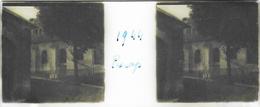 Plaque De Verre Stéréoscopique Positive - Année 1944 - Piscop - L'Église - Plaques De Verre