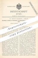 Original Patent - Dr. Martin Kallmann , Berlin , 1892 , Isolationsfelder Im Elektr. Verteilungsnetz   Strom , Elektriker - Historische Dokumente