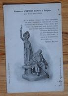 22 : Monument D'Ernest Renan à Tréguier Par Jean Boucher - Statue / Sculpture - Dos Simple - (n°14788) - Tréguier