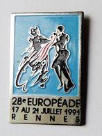 Pin's 28e Européade Rennes - BR3/5 - Villes
