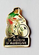 Pin's Cyclisme AC Saint Aubin D'Aubigné Ille Et Vilaine  - BR3/5 - Pin's