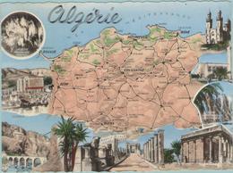 CPM:  Carte Géographie De L'EST ALGERIEN  (algérie):   Multivues.      (E1717) - Algérie