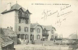- Finistère -ref-E163- Portsall - Hotel De Bretagne - Hotels - Carte Bon Etat - - Autres Communes