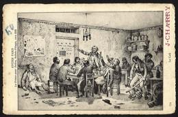 FRANCE--ANCIEN PARIS -La Prison Pour Dettes ,Sainte-Pelagie ,vers1835--Le Cafe.--J.CHARRY - Gevangenis