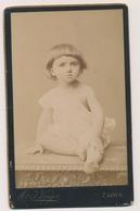 CDV PHOTO, Cute Kid Little Girl , Petit Fillette Atelier F. Varga Zagreb Croatia ORIGINAL - Persone Anonimi