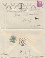 LETTRE. FRANCE. 1948. LANDES MONT-DE-MARSAN. GANDON 10F POUR RABAT MAROC. TAXE MAROCAINE 5F A L'ARRIVEE / 3 - Marcophilie (Lettres)