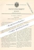 Original Patent - H. Noeh , Berlin , 1882 , Feuerzeug   Taschenfeuerzeug   Feuer , Zünder   Taschenuhr !! - Historische Dokumente