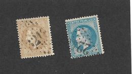 N° 28 N 29 Napoléon III  Bon état - 1863-1870 Napoleon III With Laurels