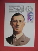 Carte Maximum 1990 N° 2634 - Cachet  Haute- Marne  Charles De Gaulle - Cartoline Maximum