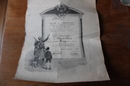 Diplome   Medailles Militaire Belle Illustration Par George  SCOTT 1919 - Diploma's En Schoolrapporten