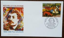 Nouvelle-Calédonie - FDC 1998 - YT N°754 - Paul Gauguin - FDC