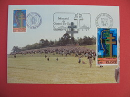 Carte Maximum 1977 N° 1941 - Cachet  Haute-Marne  Charles De Gaulle - Cartes-Maximum