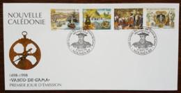 Nouvelle-Calédonie - FDC 1998 - YT N°764 à 767 - Exposition Philatélique / La Route Des Indes Par Vasco De Gama - FDC