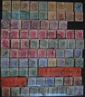 CHINE - HONG-KONG - 95 TP Victoria Entre Le N° 1 (2 Ex.) Et Le N° 50 - Oblitérations, Nuances (2N°33a), Variétés... - Hong Kong (...-1997)