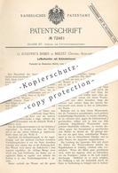 Original Patent - G. Josephy Erben , Bielitz , Österr. Schlesien , 1893 , Luftbefeuchter Mit Schleuderkessel   Gebläse - Historische Dokumente