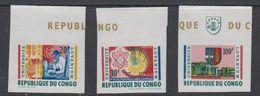 Congo 1964  University Lovanium 3v From M/s (imperforated) ** Mnh (42209) - Democratische Republiek Congo (1964-71)