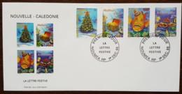 Nouvelle-Calédonie - FDC 1998 - YT N°779 à 782 - Timbres De Souhaits / Le Lettre Festive - FDC