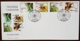 Nouvelle-Calédonie - FDC 1999 - YT N°784 à 787 - Faune / Les Arachnides - FDC