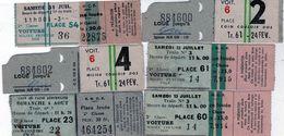 Lot D'anciens Tickets De Train S.N.C.F - - Chemins De Fer