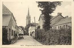 - Finistère -ref-E156-  Plogastel Saint Germain - Plogastel St Germain - Entrée Et Ecole - Ecoles - Voiture - Automobile - Autres Communes