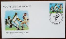 Nouvelle-Calédonie - FDC 1999 - YT N°795 - Jeux Du Pacifique Sud / Sport / Base Ball - FDC