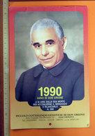 ANNO DI DON ORIONE PICCOLO COTTOLENGO GENOVESE 1990 CALENDARIO - Formato Grande : 1981-90