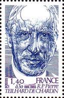 Lot France Poste N** Yv:2152 Mi:2264 Pierre Teilhard De Chardin - France