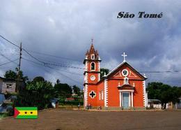Sao Tome And Principe Pantufo St. Peter Church New Postcard - Sao Tome And Principe