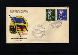 Germany / Deutschland 1958 Europa Cept FDC - Europa-CEPT