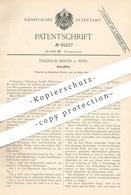 Original Patent - Friedrich Breyer , Wien , 1895 , Asbestfilter   Asbest - Filter   Wasserfilter   Filtern !!! - Historische Dokumente