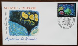 Nouvelle-Calédonie - FDC 2000 - YT N°816 - Aquarium De Nouméa / Coraux Fluorescents - FDC