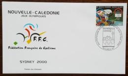 Nouvelle-Calédonie - FDC 2000 - YT N°821 - Jeux Olympiques De Sydney / Cyclisme Sur Piste - FDC
