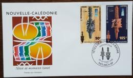 Nouvelle-Calédonie - FDC 2000 - YT N°823, 824 - Musée / Têtes De Monnaies Kanak - FDC