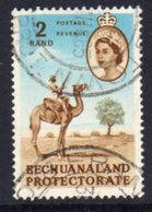 Bechuanaland Protectorate QEII 1961 Definitives, R2 Camel Patrol Value, Used, SG 181 (BA2) - Bechuanaland (...-1966)