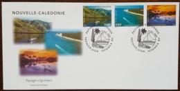 Nouvelle-Calédonie - FDC 2000 - YT N°827 à 829 - Paysages Régionaux - FDC