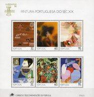 EXPO 1990 Portugal Block 74 ** 12€ Gemälde Diener Versuchung Bloque M/s Sheets Art S/s Blocs Bf Philatelics - Expositions Philatéliques