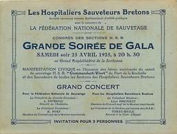 Gd Format:environ14cms X10,5cms -ref Y447-hospitaliers Sauveteurs Bretons -canot Sauvetage Cdt Viort * La Rochelle - - Programmes