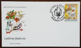 Nouvelle-Calédonie - FDC 2000 - YT N°836 - Lettres Festives / Meilleurs Voeux De Bonheur - FDC