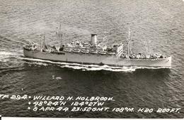 Bateaux -U.S.A. - WILLARD H.HOLBROOK - PHOTO CARTE  CARD - Bateaux