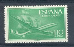 Espagne 1955. Carabelle Et Avion 1.10 Pta Yv Ae 270 (**) - 1931-Today: 2nd Rep - ... Juan Carlos I