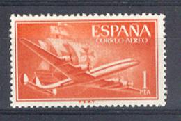 Espagne 1955. Carabelle Et Avion 1 Pta Yv Ae 269 (**) - 1931-Today: 2nd Rep - ... Juan Carlos I