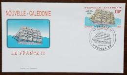 Nouvelle-Calédonie - FDC 2001 - YT N°839 - Grand Voilier Le France II - FDC