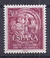 Spain 1953. Univ Salamanca 50 Cts Ed 1126  (**) - 1931-Today: 2nd Rep - ... Juan Carlos I