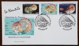 Nouvelle-Calédonie - FDC 2001 - YT N°840 à 842 - Aquarium De Nouméa / Le Nautile - FDC
