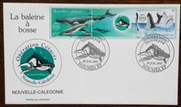 Nouvelle-Calédonie - FDC 2001 - YT N°844, 845 - Faune / Baleine à Bosse - FDC