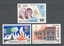 Spain. 1983 Efemerides Ed 2715-17 - 1981-90 Neufs