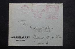ALLEMAGNE - Affranchissement Mécanique De Augsburg Sur Enveloppe Commerciale En 1937 Pour La France - L 25437 - Allemagne