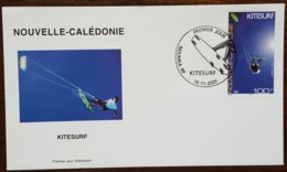 Nouvelle-Calédonie - FDC 2001 - YT N°856 - Kitesurf / Sport - FDC